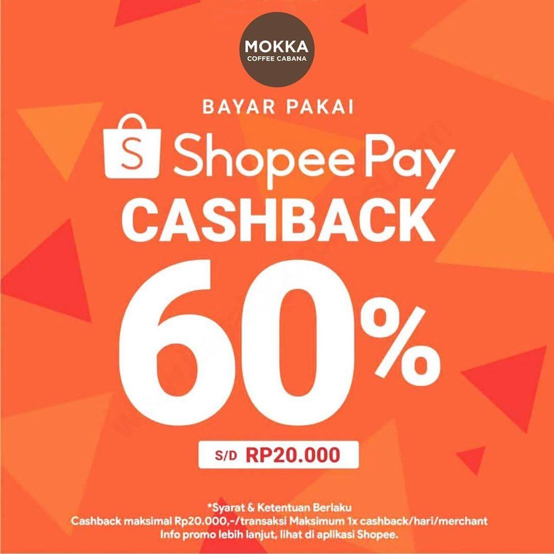 Mokka Cashback 60% Pembayaran Via ShopeePay