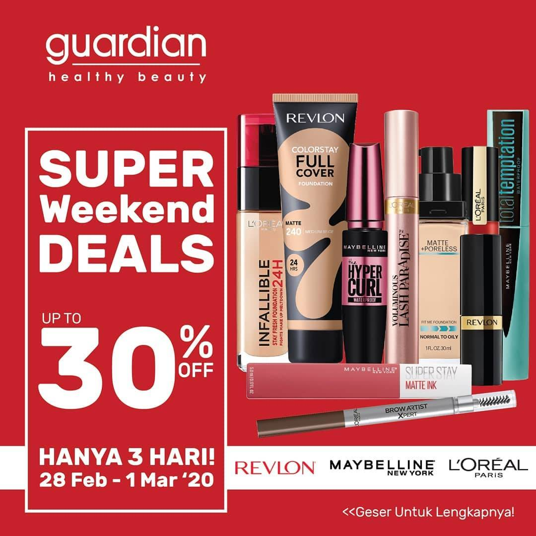 Guardian Super Weekend Deals Periode 28 Februari - 1 Maret 2020
