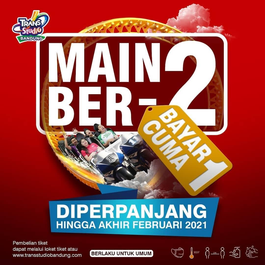 Diskon Trans Studio Bandung Buy 1 Get 1 Free Tiket