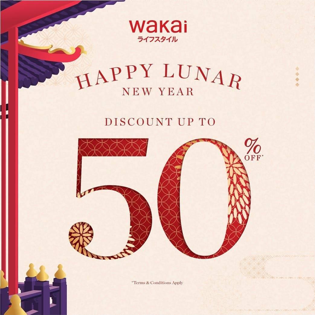 Diskon Wakai Discount Up To 50% Off + 5% Off