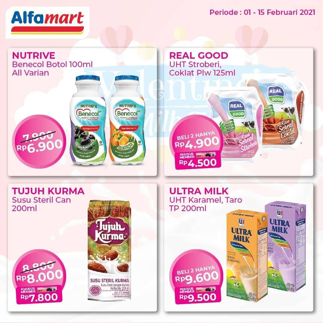 Promo diskon Katalog Promo Alfamart Valentine Milk Fair Periode 1 - 15 Februari 2021