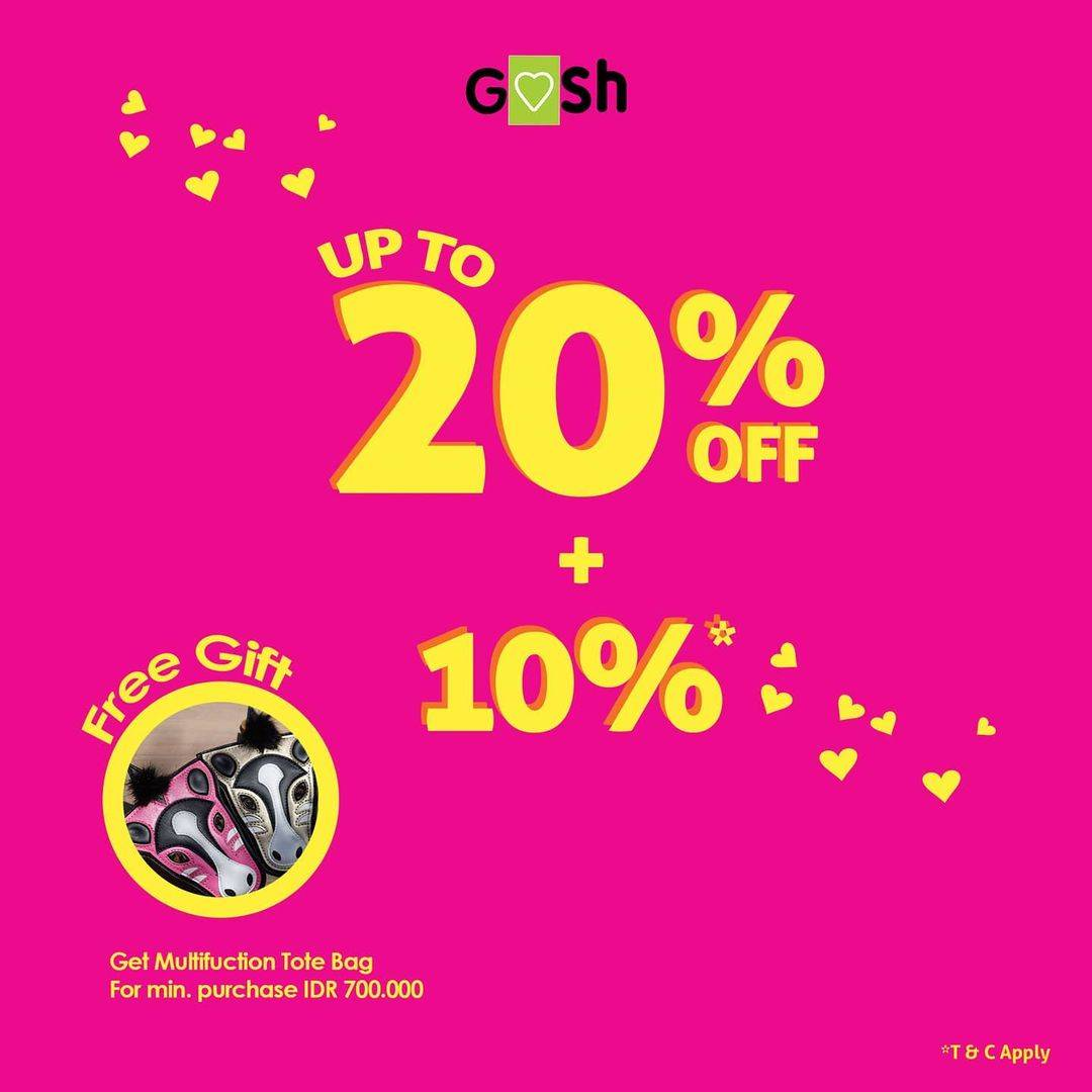 Diskon Gosh Discount Up To 20% Off + 10% Off