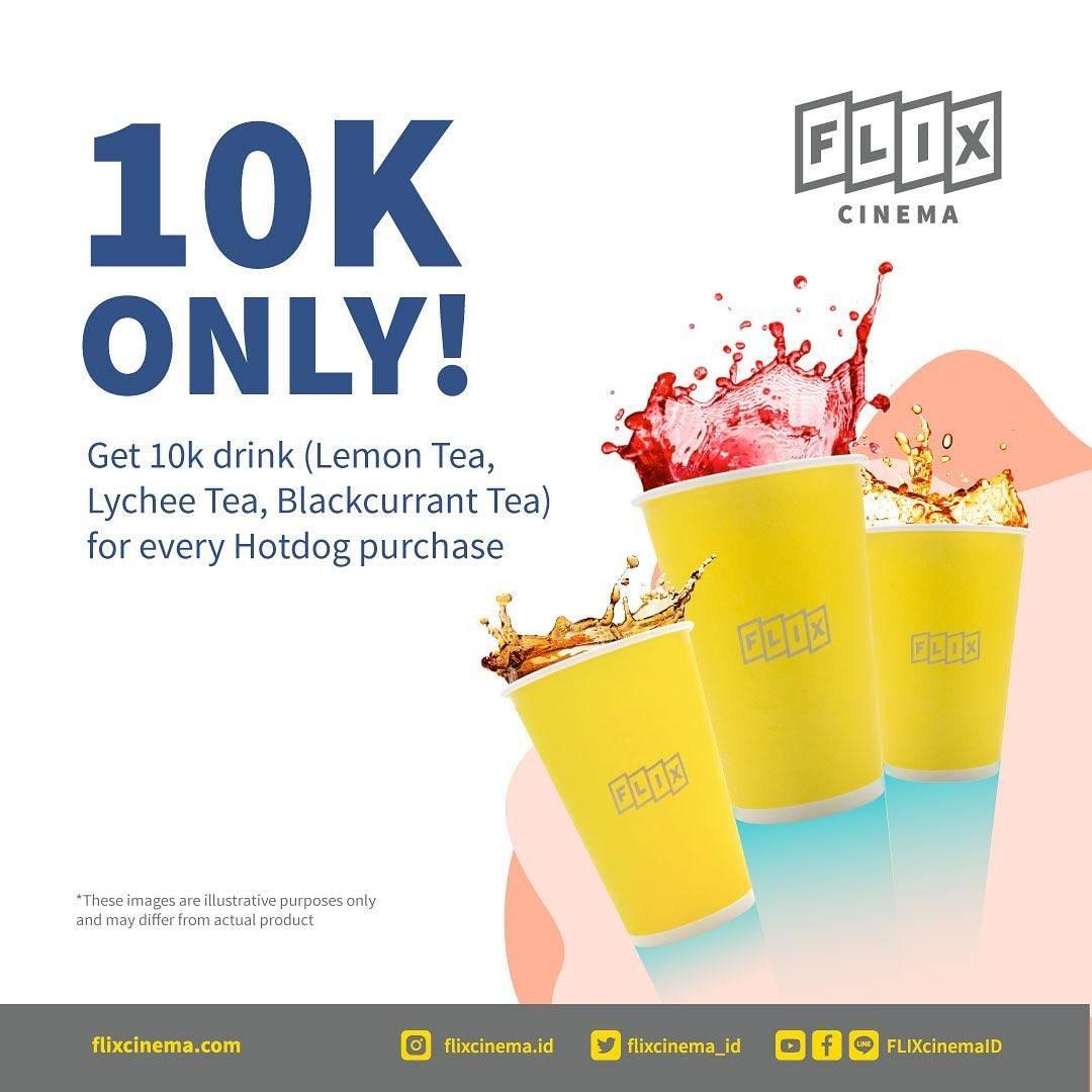Diskon Flix Cinema Promo Drinks Only For Rp. 10.000
