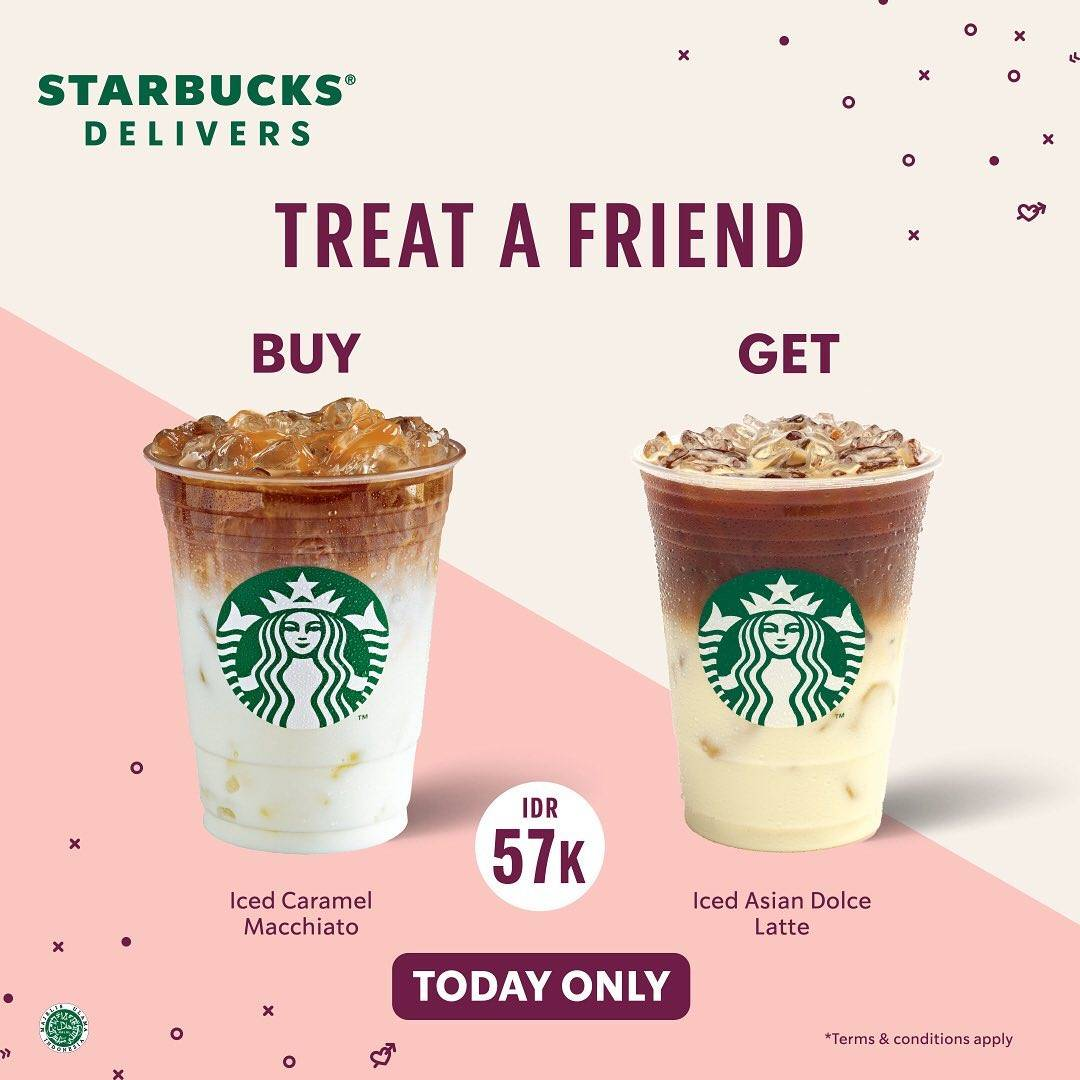 Diskon Starbucks Promo Treat A Friend Buy 1 Get 1 Free