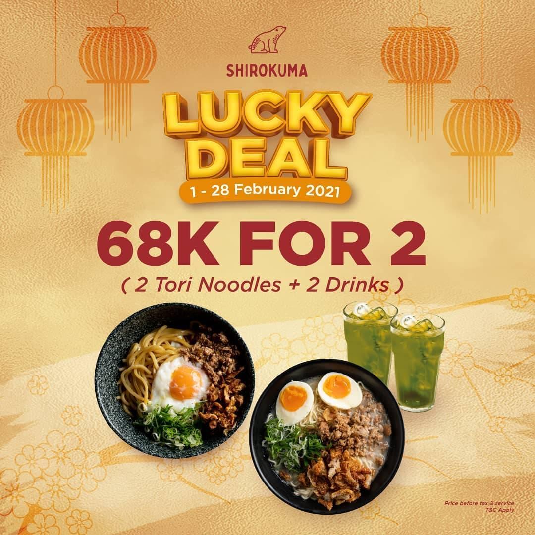 Diskon Shirokuma Lucky Deal Rp. 68.000 For 2