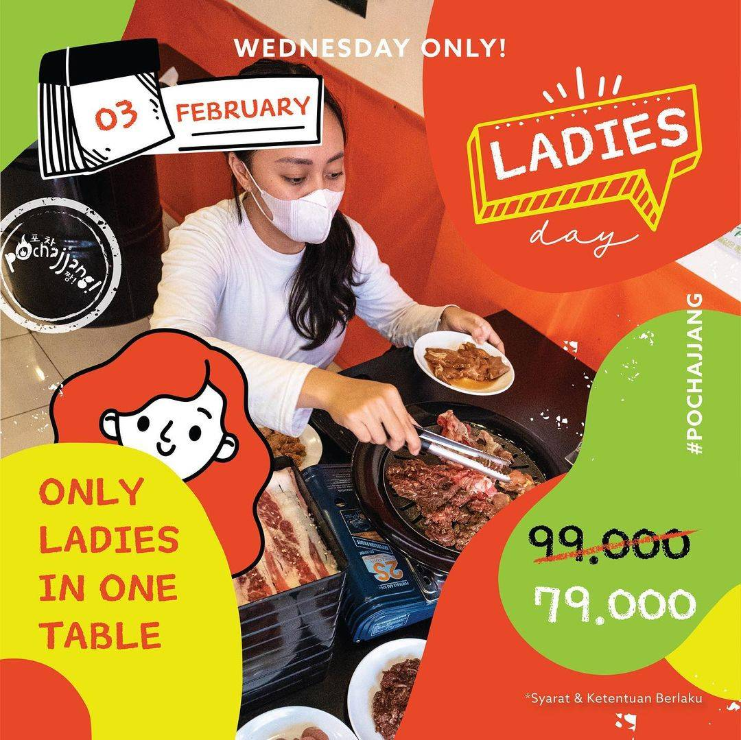 Diskon Pochajjang Promo Ladies Day All You Can Eat Hanya Rp. 79.000