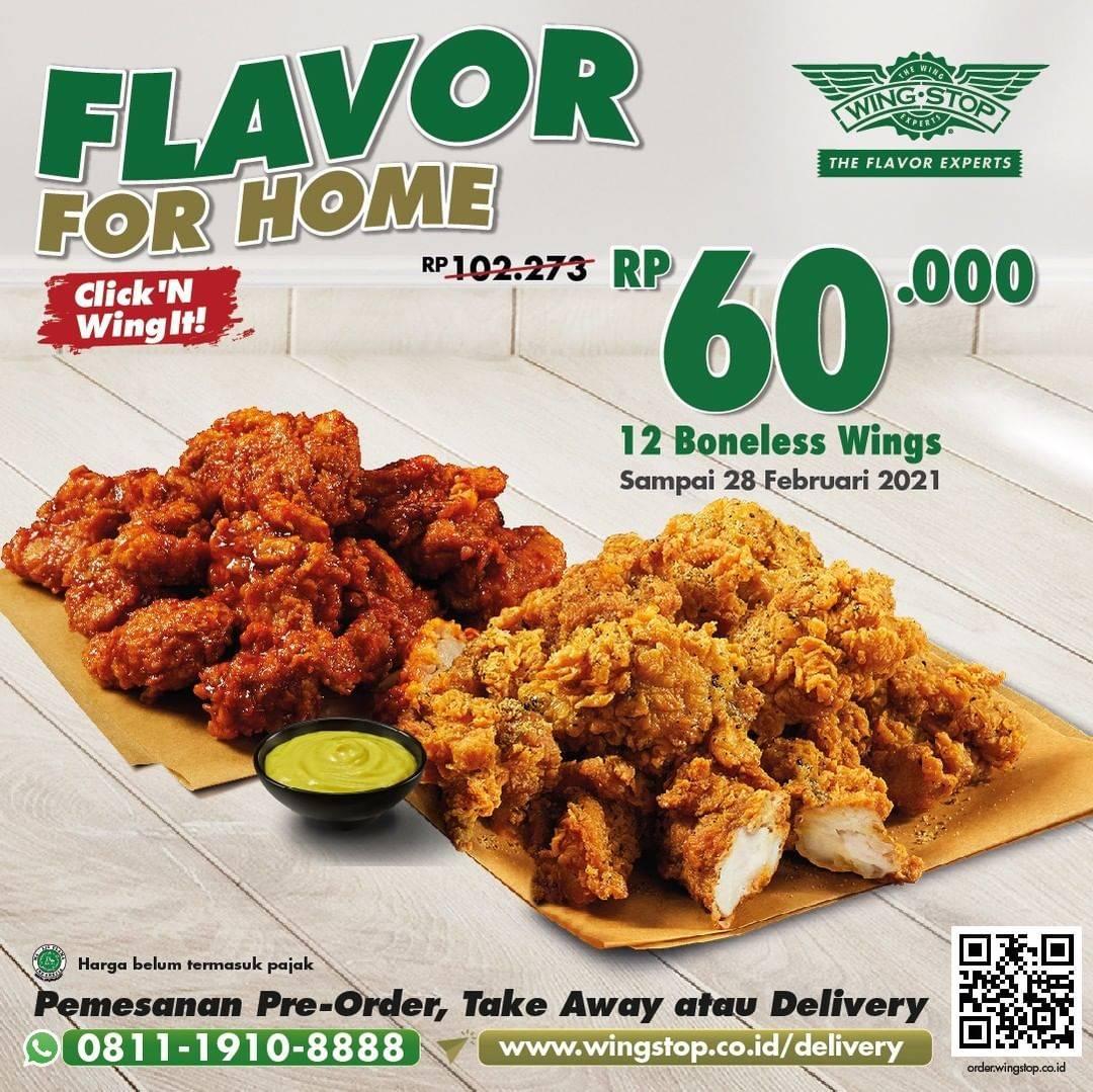 Diskon Wingstop Flavor For Home - 12 Boneless Wings Rp. 60.000