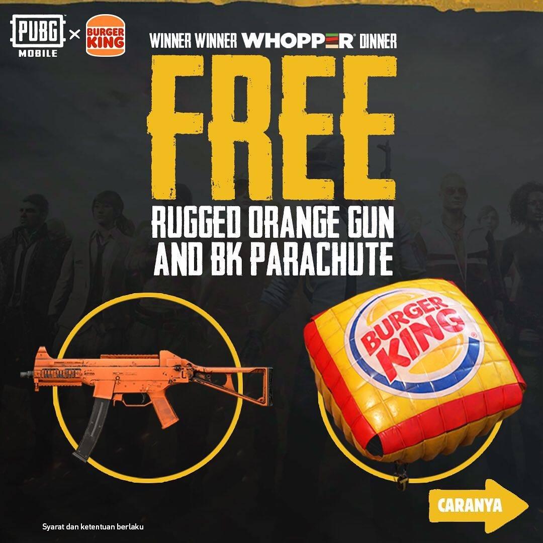 Diskon Burger King Free Rugged Orange Gun And BK Parachute