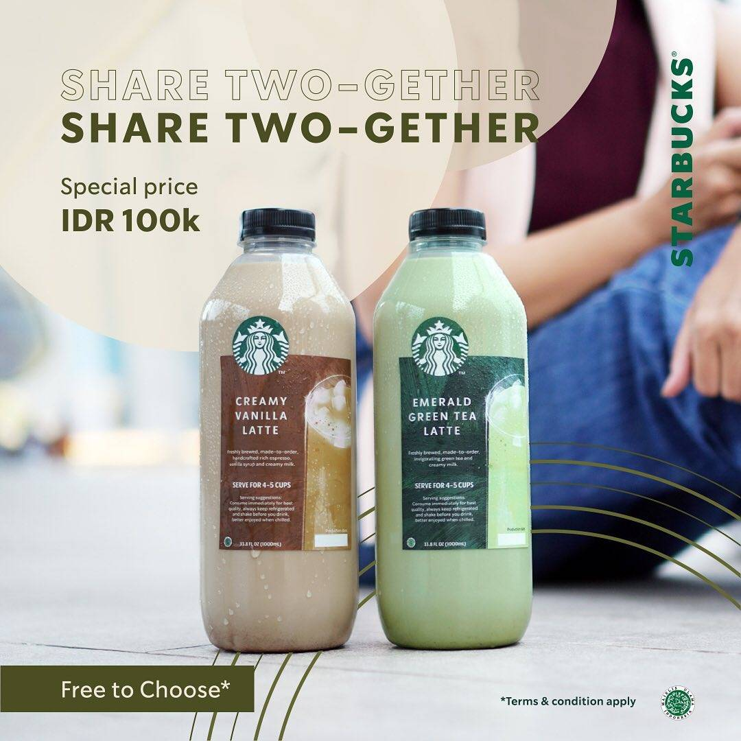Diskon Starbucks Promo Share Two-Gether Special Price Rp. 100.000