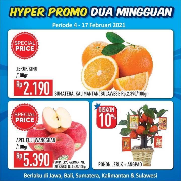 Diskon Katalog Hypermart Promo Dua Mingguan Periode 4 - 17 Februari 2021