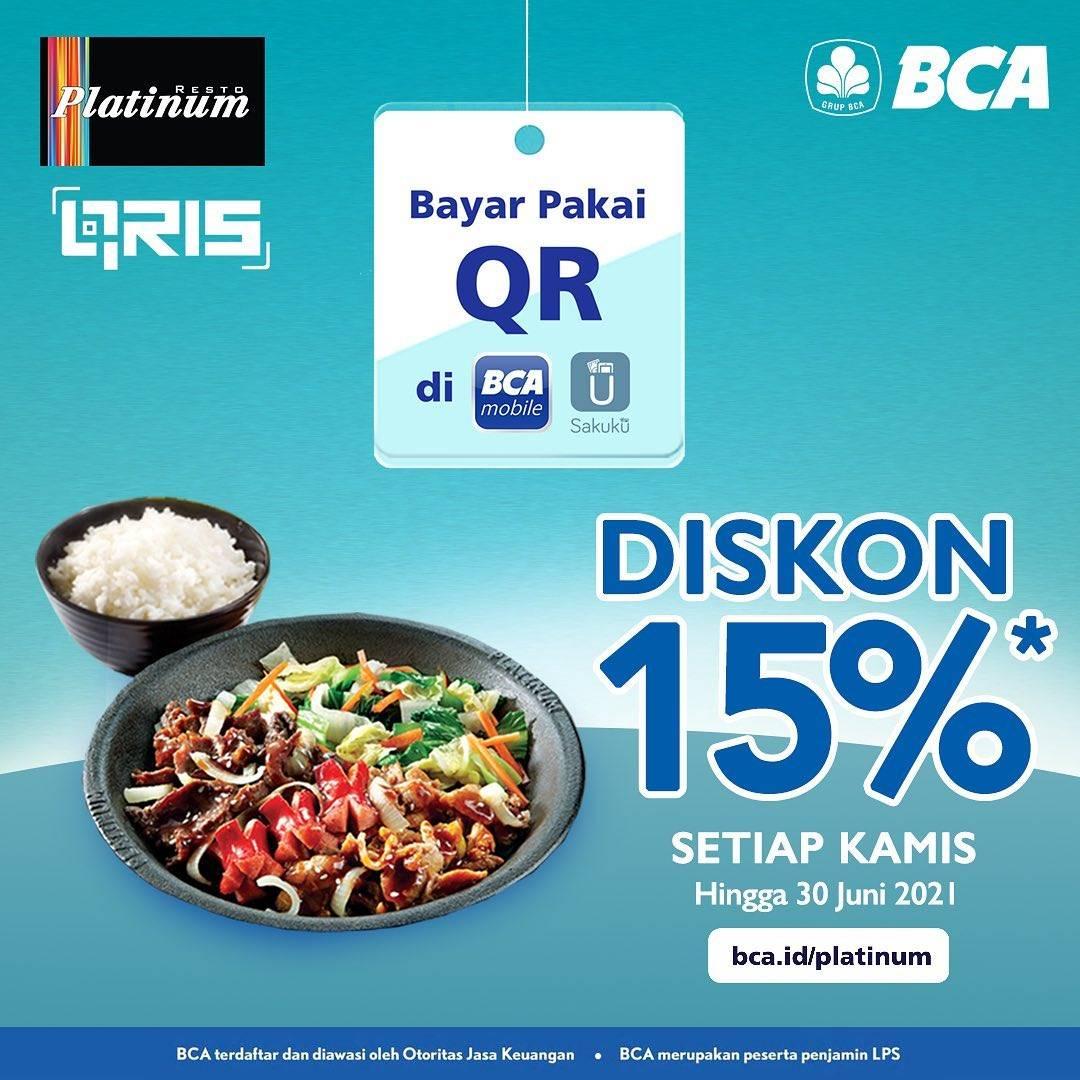 Diskon Platinum Resto Diskon 15% Dengan BCA Mobile/Sakuku