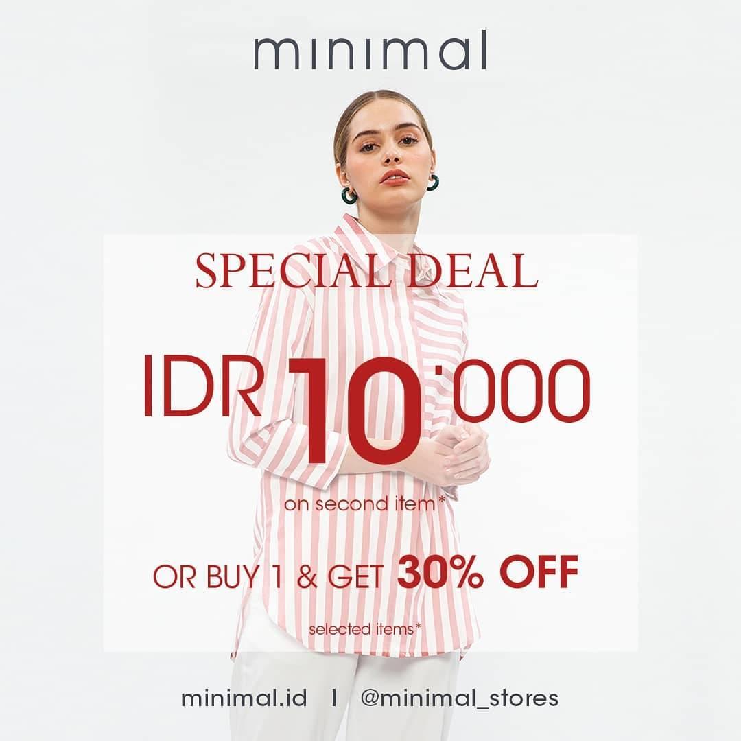 Diskon Minimal Special Deal Rp. 10.000 On 2nd Item & Get 30% Off