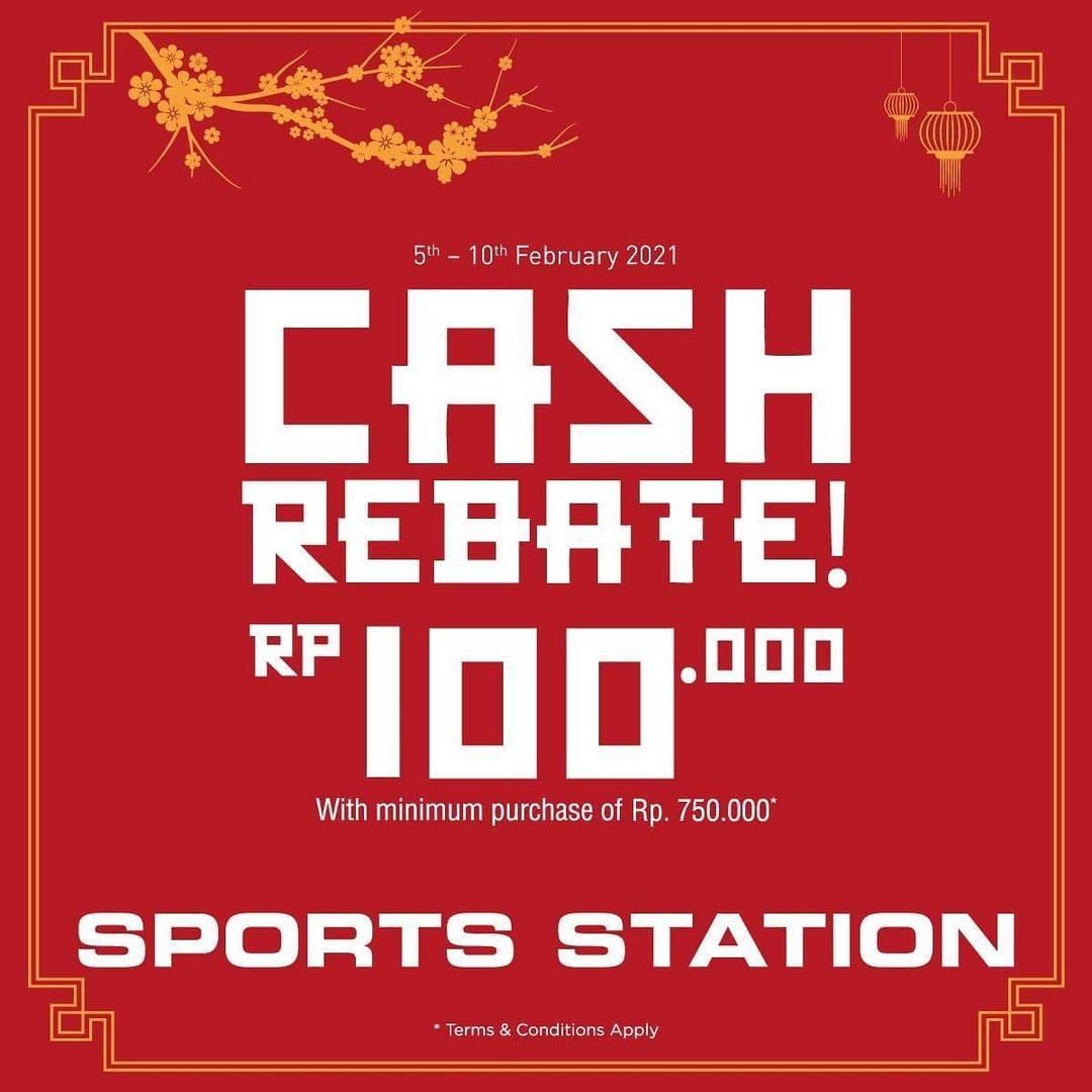 Diskon Sport Station Chinese New Year Cash Rebate Rp. 100.000