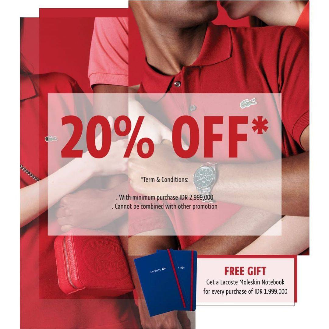Diskon Metro Department Store Discount 20% Off On Brand Lacoste