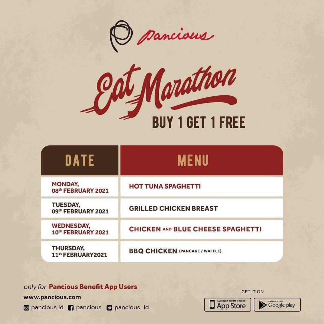 Diskon Pancious Eat Marathon Buy 1 Get 1 Free