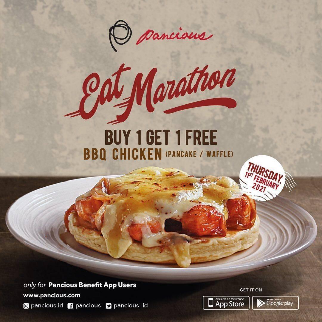 Promo diskon Pancious Eat Marathon Buy 1 Get 1 Free