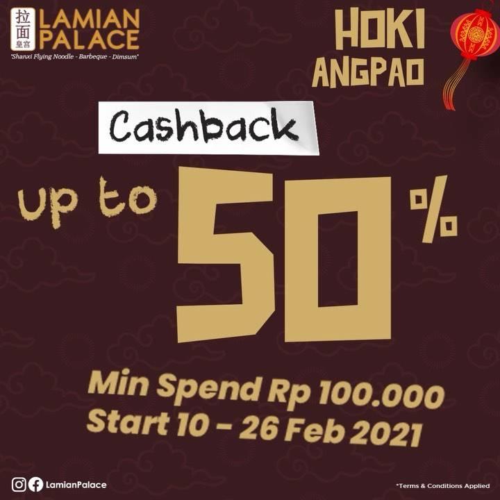 Diskon Lamian Palace Hoki Angpao Cashback Up To 50%