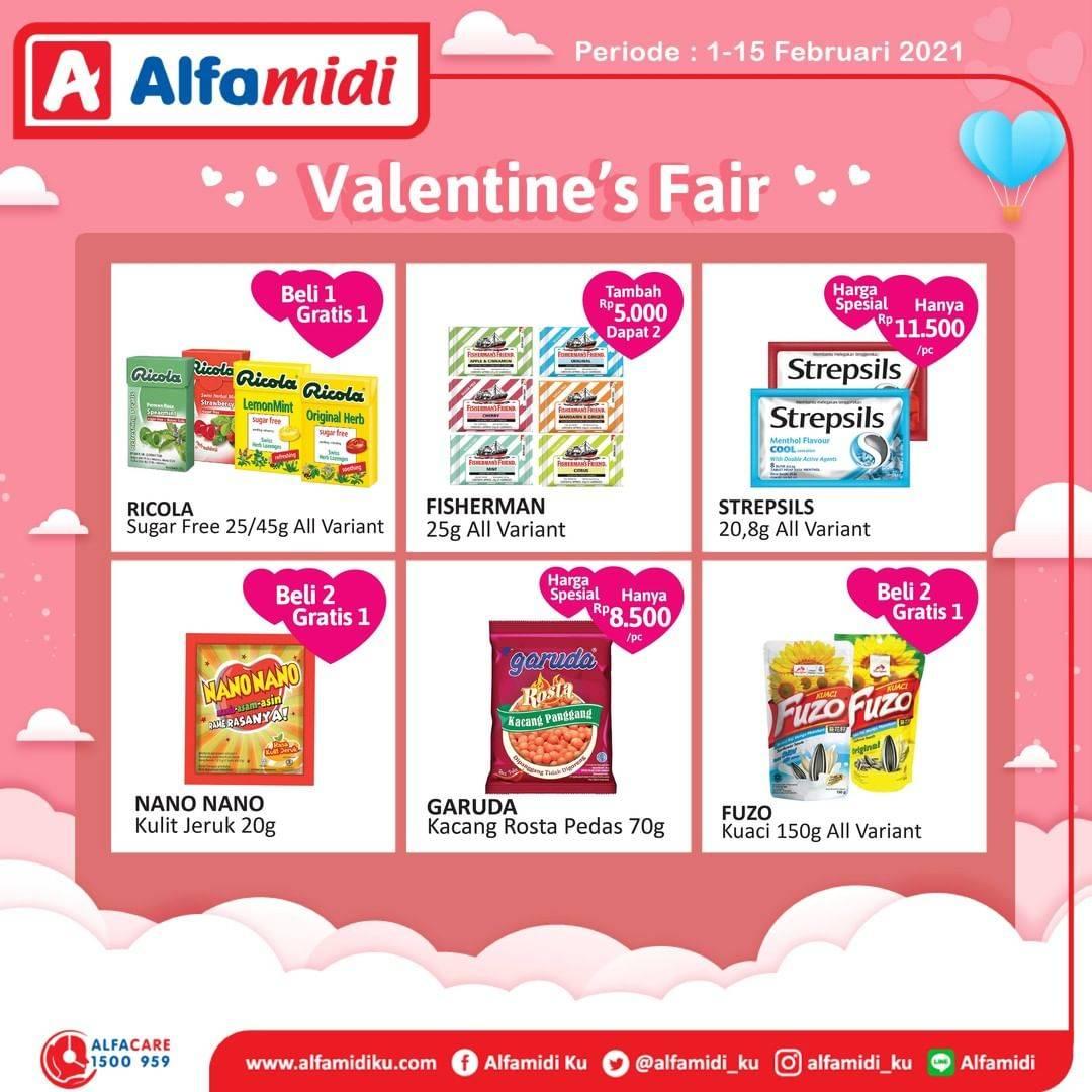 Promo diskon Katalog Promo Alfamidi Valentine's Fair Periode 1 - 15 Februari 2021