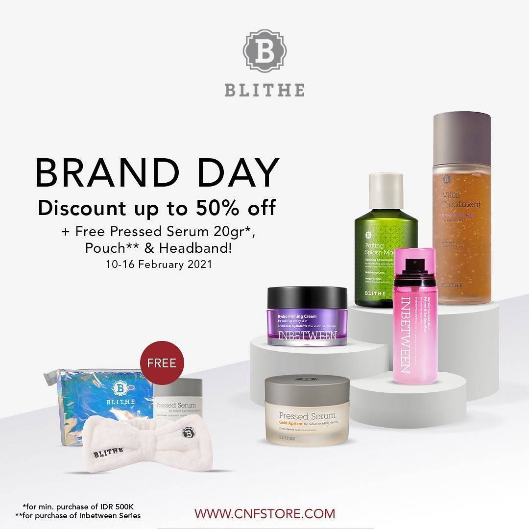 Diskon C&F Parfumery Brand Day - Discount Up To 50% Off ON BLITHE Products