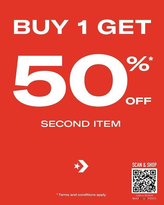 Diskon Converse Buy 1 Get Discount 50% Off On 2nd Item