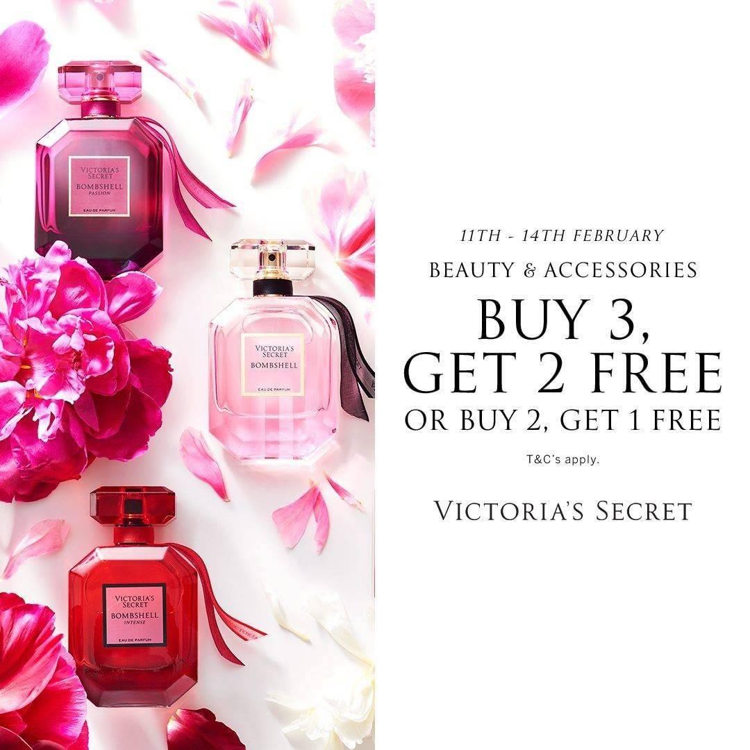 Diskon Victoria Secret Buy 3 Get 2 Free On Beauty & Accessories Products