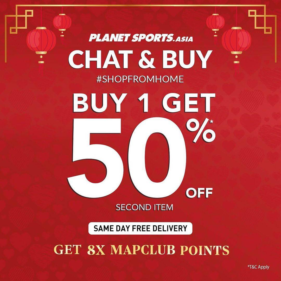 Diskon Planet Sports Buy 1 Get Discount 50% Off On 2nd Item