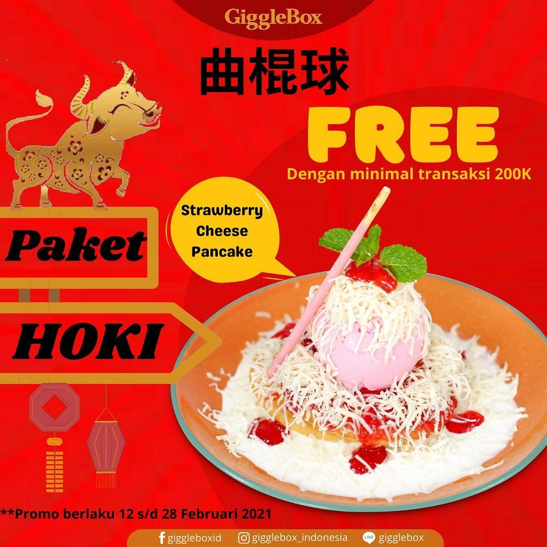 Diskon Giggle Box Free Strawberry Cheese Pancake