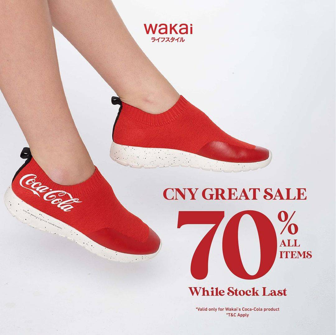 Diskon Wakai CNY Great Sale Discount 70% Off On All Items