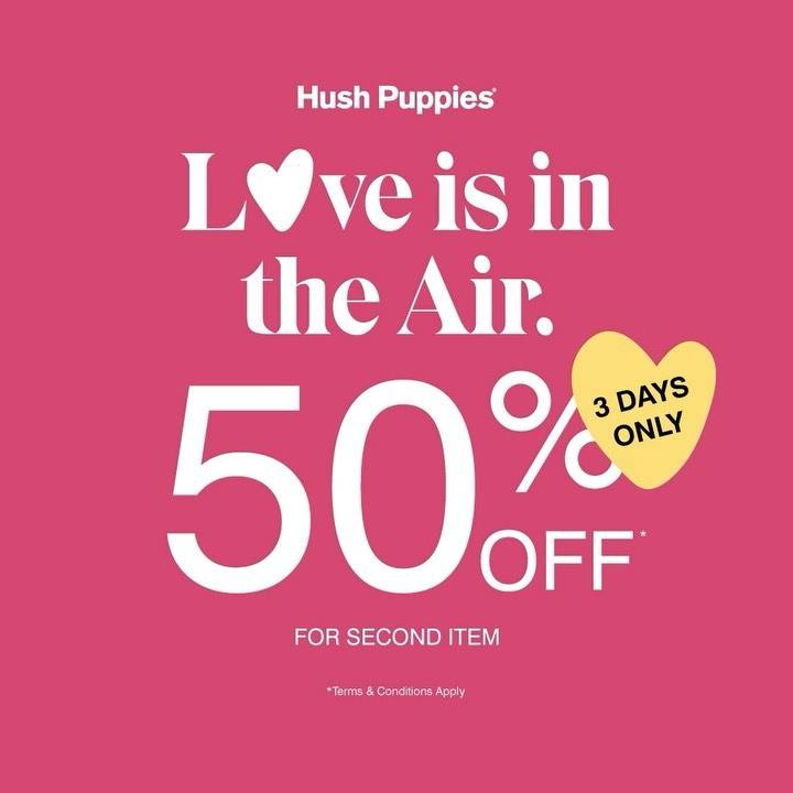 Diskon Hush Puppies Season Of Love Discount 50% Off On 2nd Item