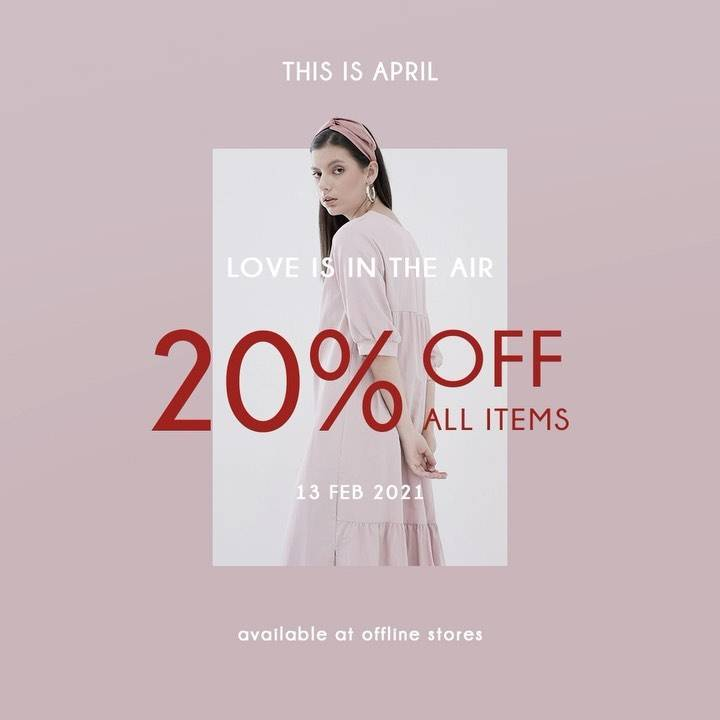 Diskon This Is April Discount 20% Off