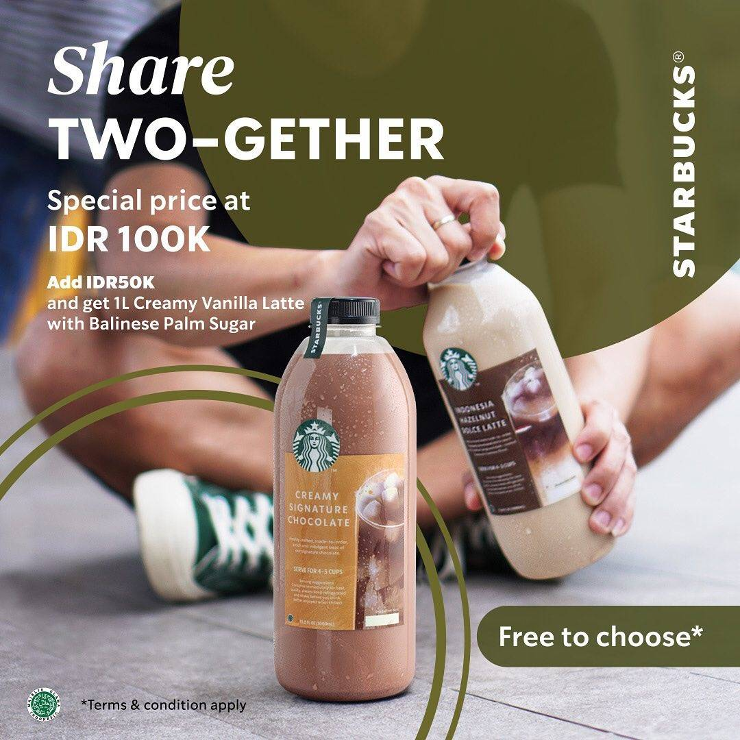 Diskon Starbucks Share Two-gether Special Price At IDR. 100.000
