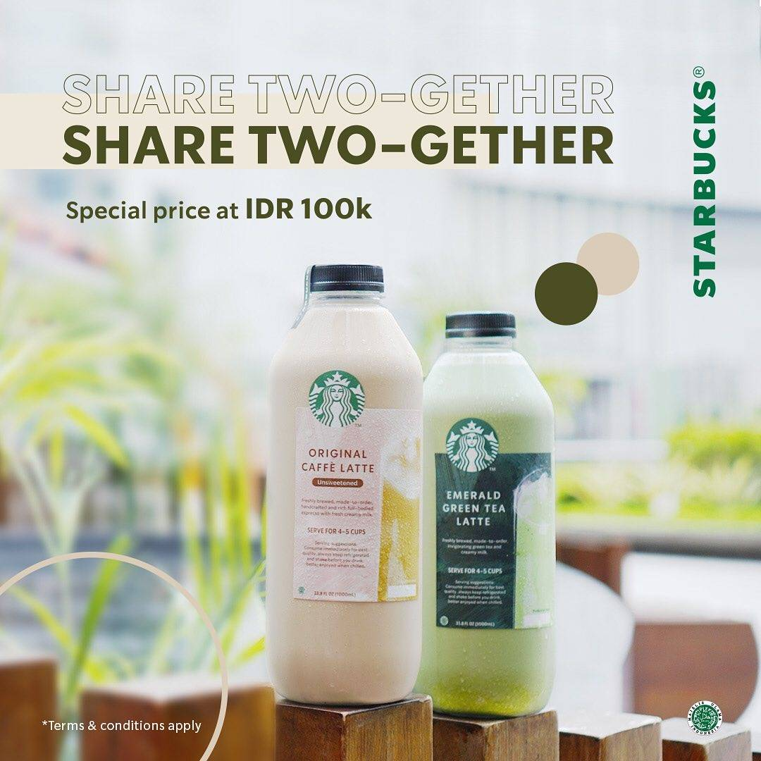 Promo diskon Starbucks Share Two-gether Special Price At IDR. 100.000