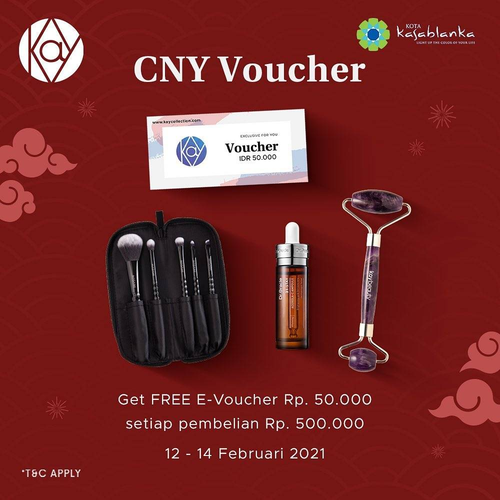 Promo diskon Kay Collection Free CNY Shopping Voucher Rp. 50.000