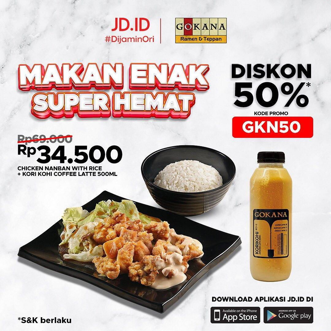 Diskon Gokana Diskon 50% Bareng JD.ID