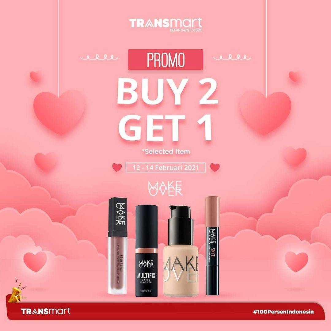 Promo diskon Transmart Carrefour Valentine Treats Discount 40% + 10% Off