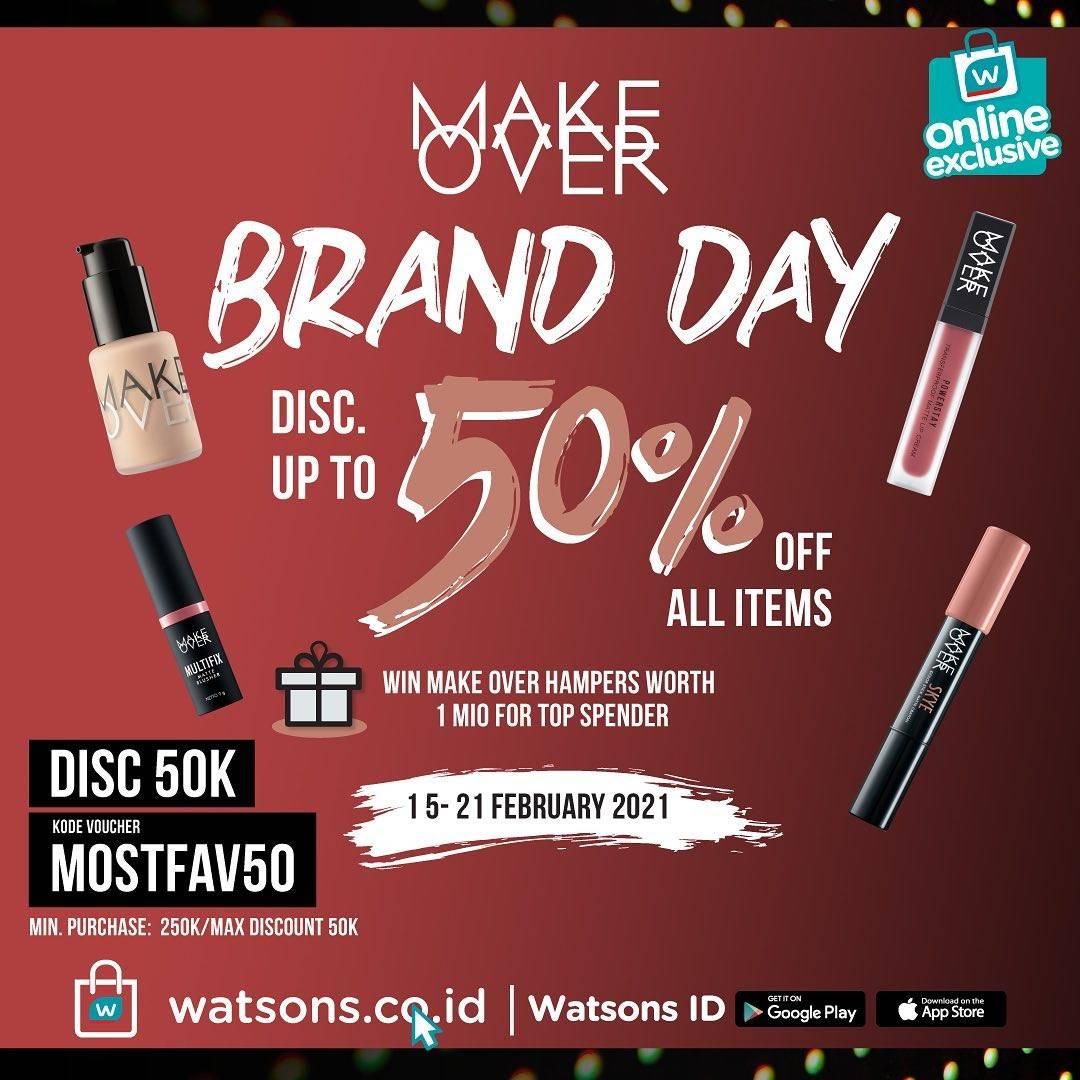 Diskon Watsons Diskon Hingga 50% Untuk Produk Makeover