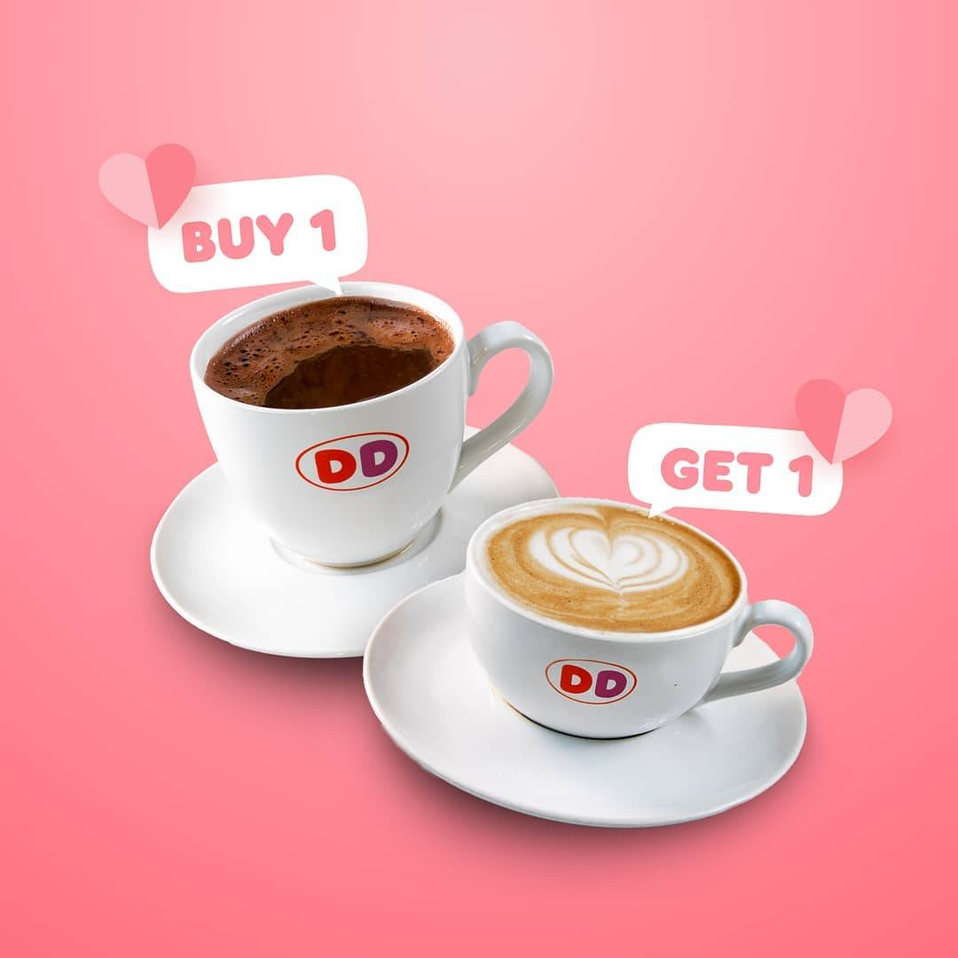 Diskon Dunkin Donuts Buy 1 Get 1 Free Beverages With DD Card