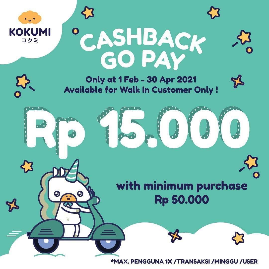 Diskon Kokumi Cashback Gopay Rp. 15.000