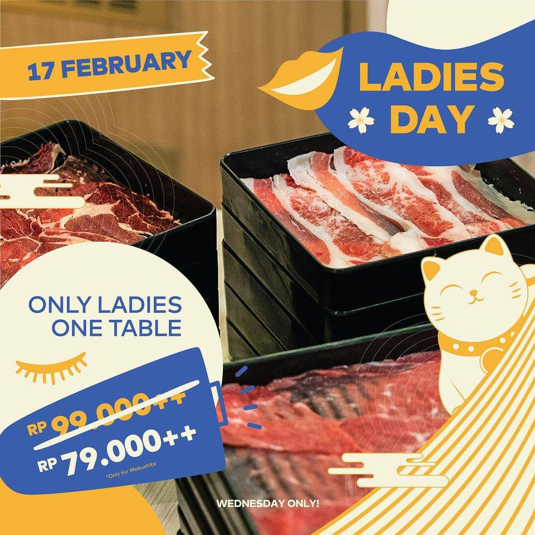 Diskon Kitamura Promo Ladies Day All You Can Eat Hanya Rp. 79.000++