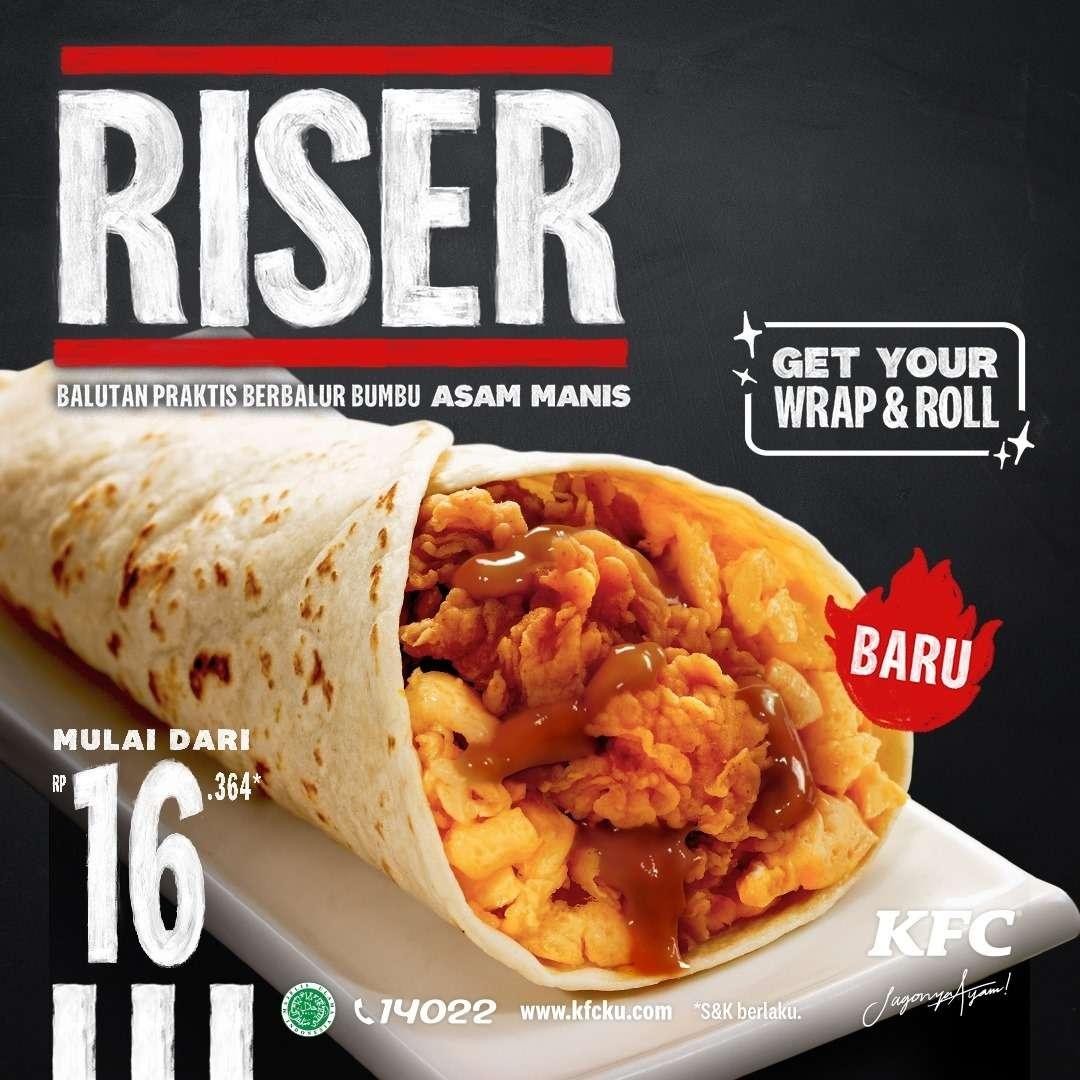 Diskon KFC Promo Riser Hanya Rp. 16.364
