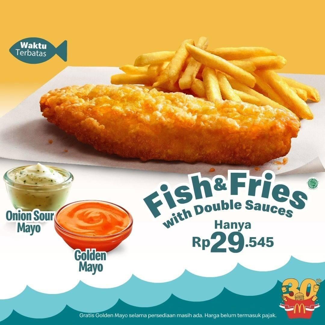Diskon McDonalds Promo Fish & Fries Hanya Rp. 29.545