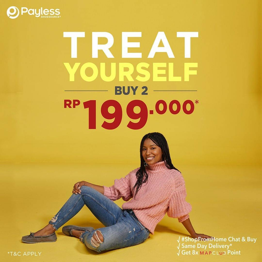Diskon Payless Promo Treat Yourself Buy 2 Only For Rp. 199.000