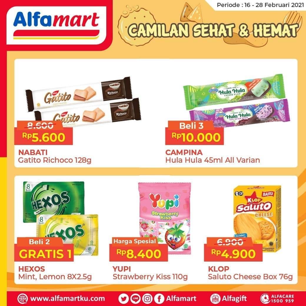 Diskon Katalog Promo Alfamart Camilan Sehat & Hemat Periode 16 - 28 Februari 2021