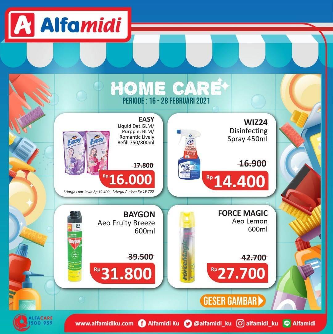 Diskon Katalog Promo Alfamidi Home Care Murah Periode 16 - 28 Februari 2021