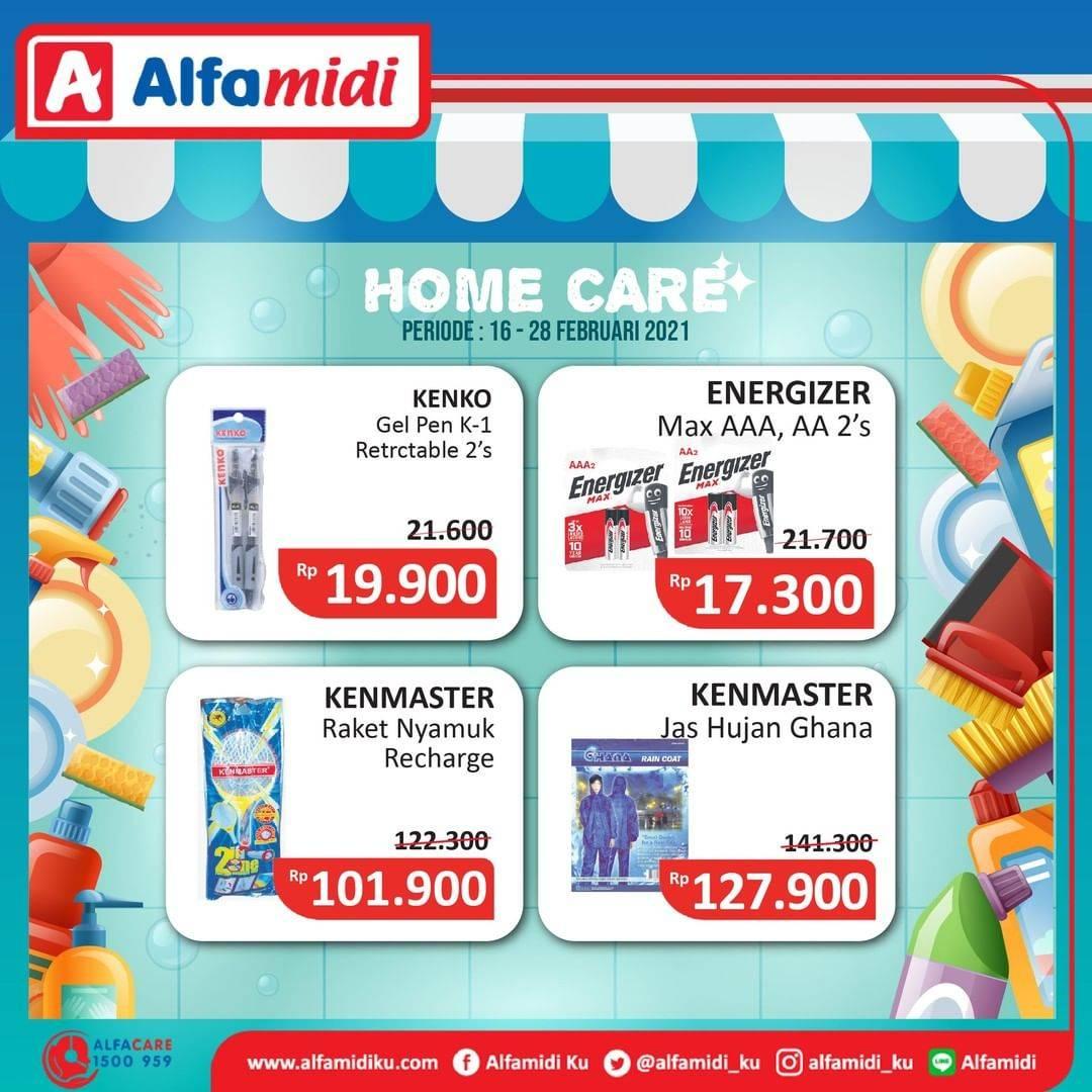 Promo diskon Katalog Promo Alfamidi Home Care Murah Periode 16 - 28 Februari 2021