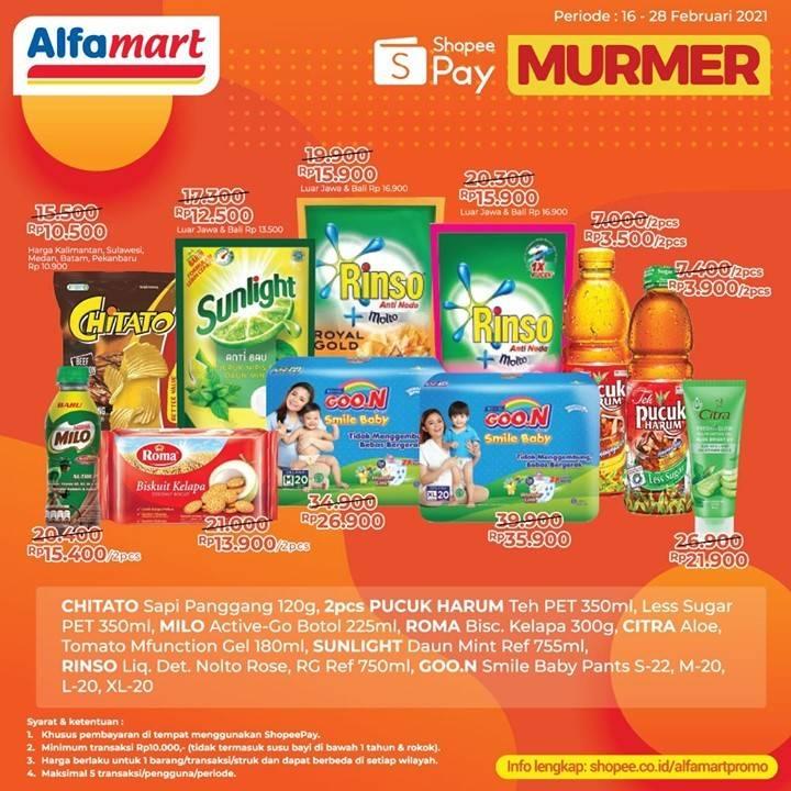 Diskon Katalog Promo Alfamart MURMER dengan ShopeePay Periode 16 - 28 Februari 2021
