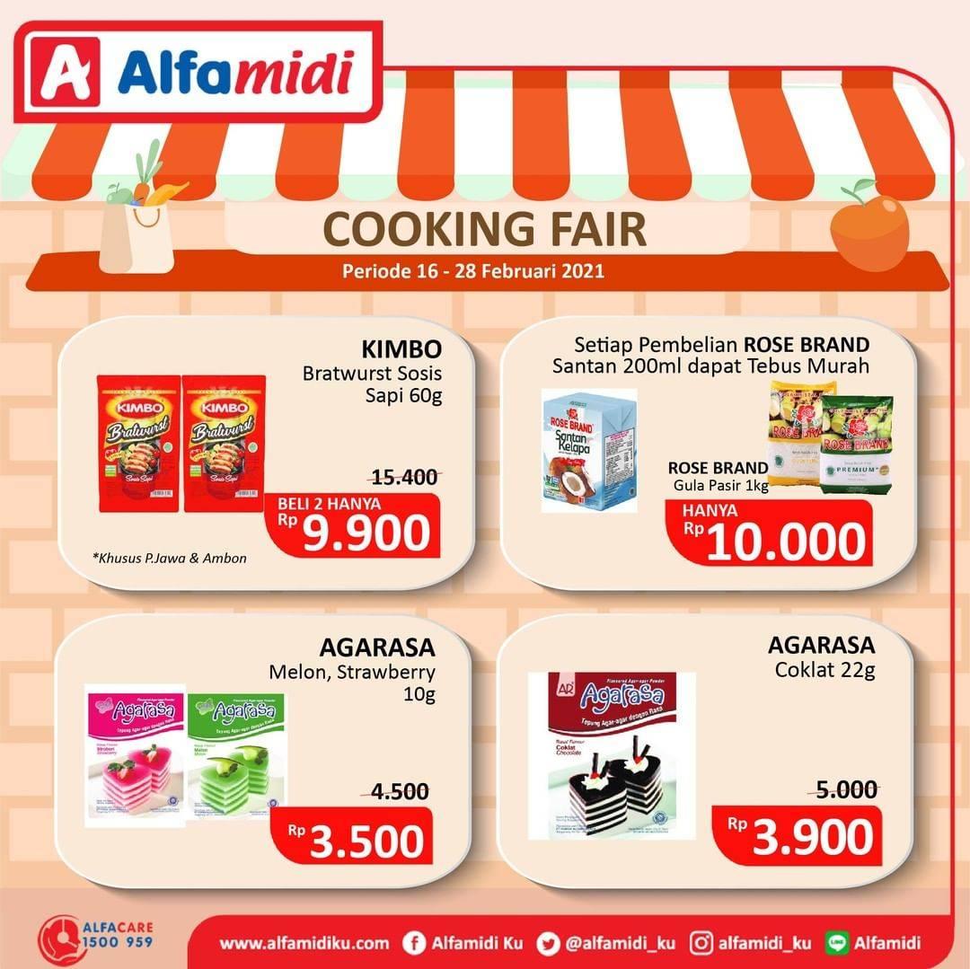 Promo diskon Katalog Promo Alfamidi Cooking Fair Periode 16 - 28 Februari 2021