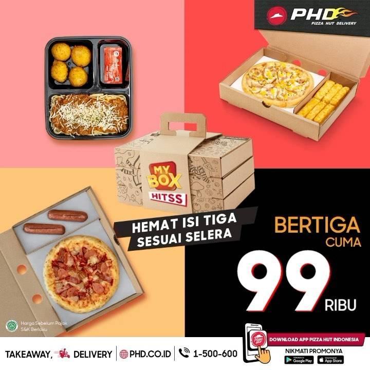 Diskon Pizza Hut Promo Bertiga Cuma Rp. 99.000
