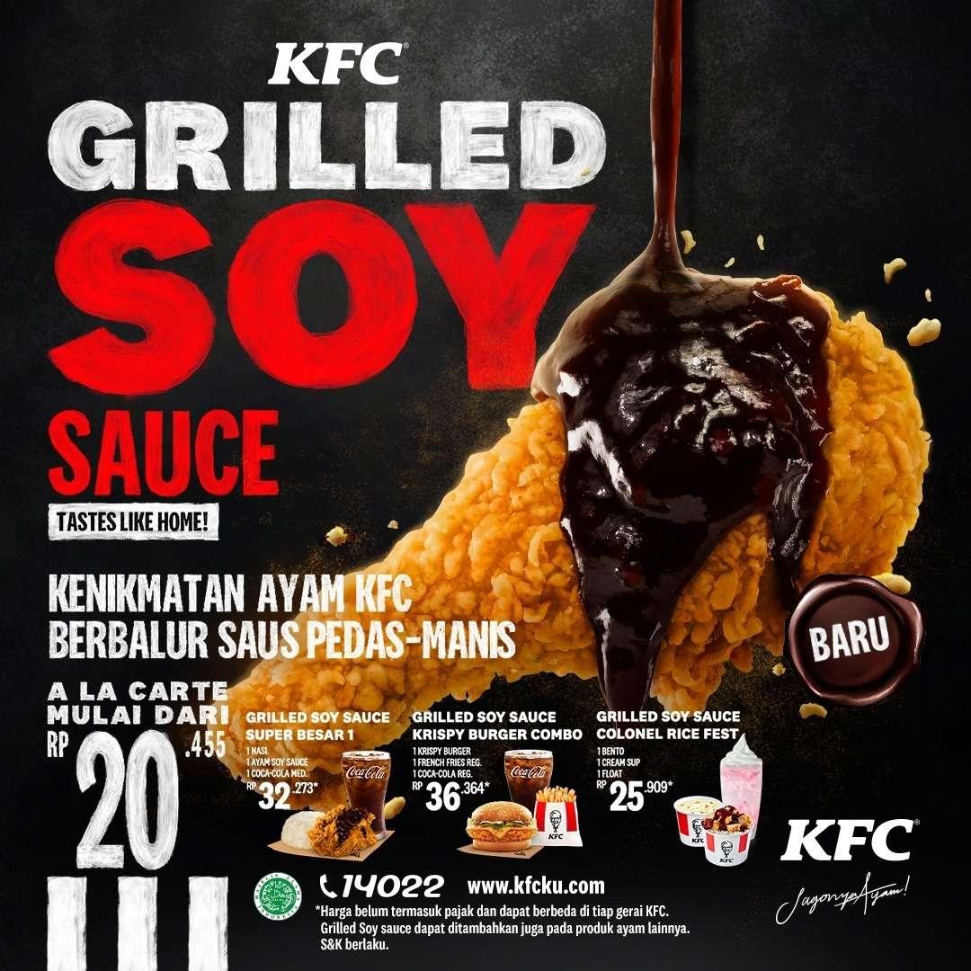 Diskon KFC Promo Grilled Soy Sauce Harga Mulai Dari Rp. 20. 455