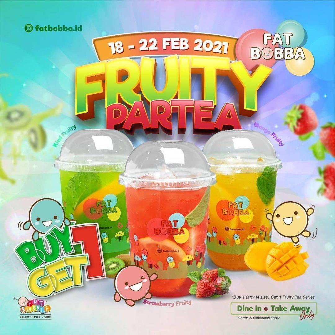 Diskon Fat Bobba Fruity Partea Buy 1 Get 1 Free